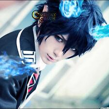 30cm Ao no Exorcist Okumura Rin Dark Blue Heat Resistant Anime Cosplay Wig