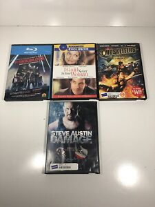 Lot-Of-4-Blockbuster-DVD-cases-With-3-Movies