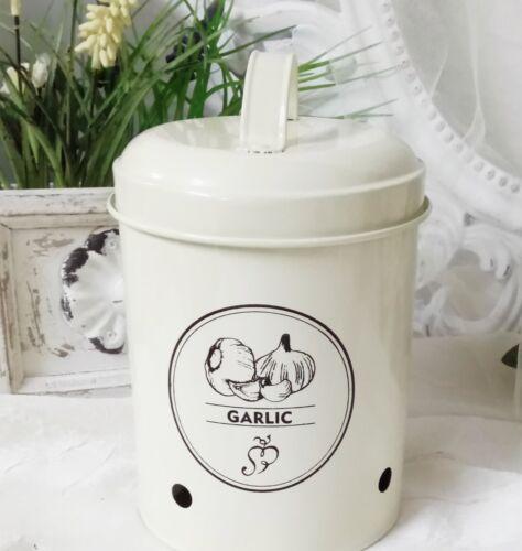 Vorratsdose Knoblauch Knoblauchtopf Garlic Vintage Landhausstil