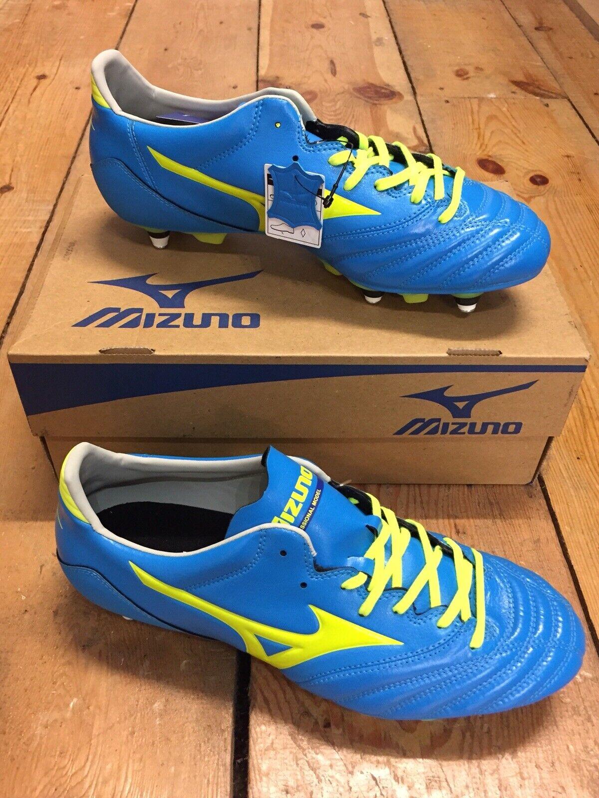 Mizuno Morelia Neo KL mezcla de cuero botas de fútbol-UK Talla 10.5  Totalmente NUEVO