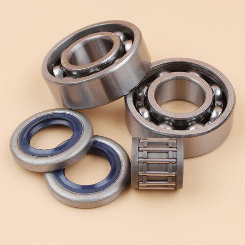 Crankshaft Ball Bearings Oil Seal Kit For Husqvarna 346XP 351 353 Chainsaw