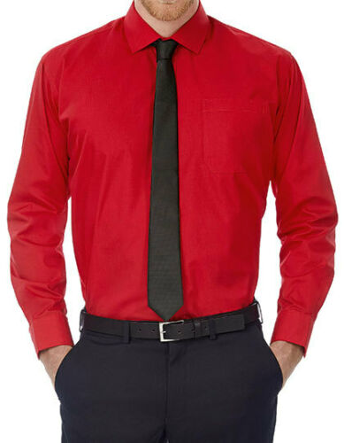 B/&c procurarle Uomo Camicia Manica Lunga Misure Grandi Business Camicia Business Camicia da lavoro