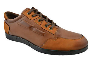 230-ovatto-marron-tabac-cuir-Casual-Hommes-Baskets-Chaussures-Nouvelle-Collection
