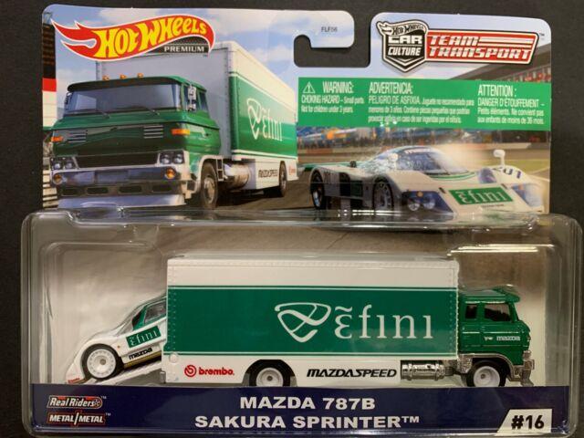 Hot Wheels Mazda 787B and Sakura Sprinter Team Transport FLF56-956G 1/64