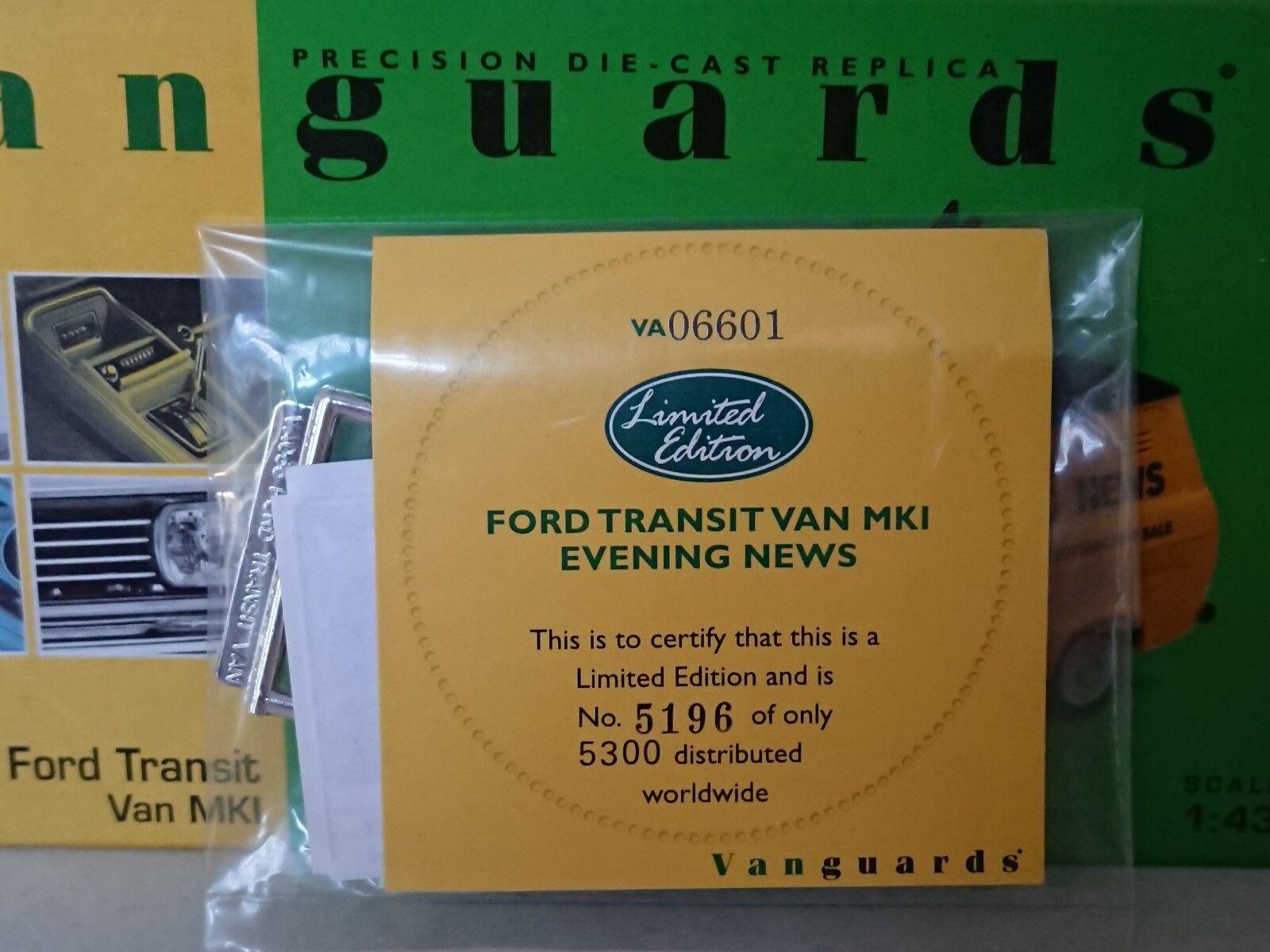 Corgi Corgi Corgi VA06601 Evening News Ford Transit Van MkI Ltd Ed No. 5196 of 5300 ea12c8