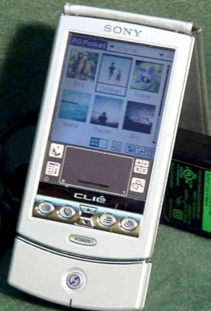 Sony PEG-N760C Clie Color LCD Personal Entertainment PDA Unit 8MB SILVER MP3