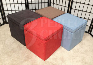 kids organizer cube storage ottoman footstools poufs