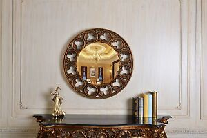 Gold Gilt Ornate Celtic Wall Mirror Modern Large 80cm Round Bedroom Living Hall Ebay