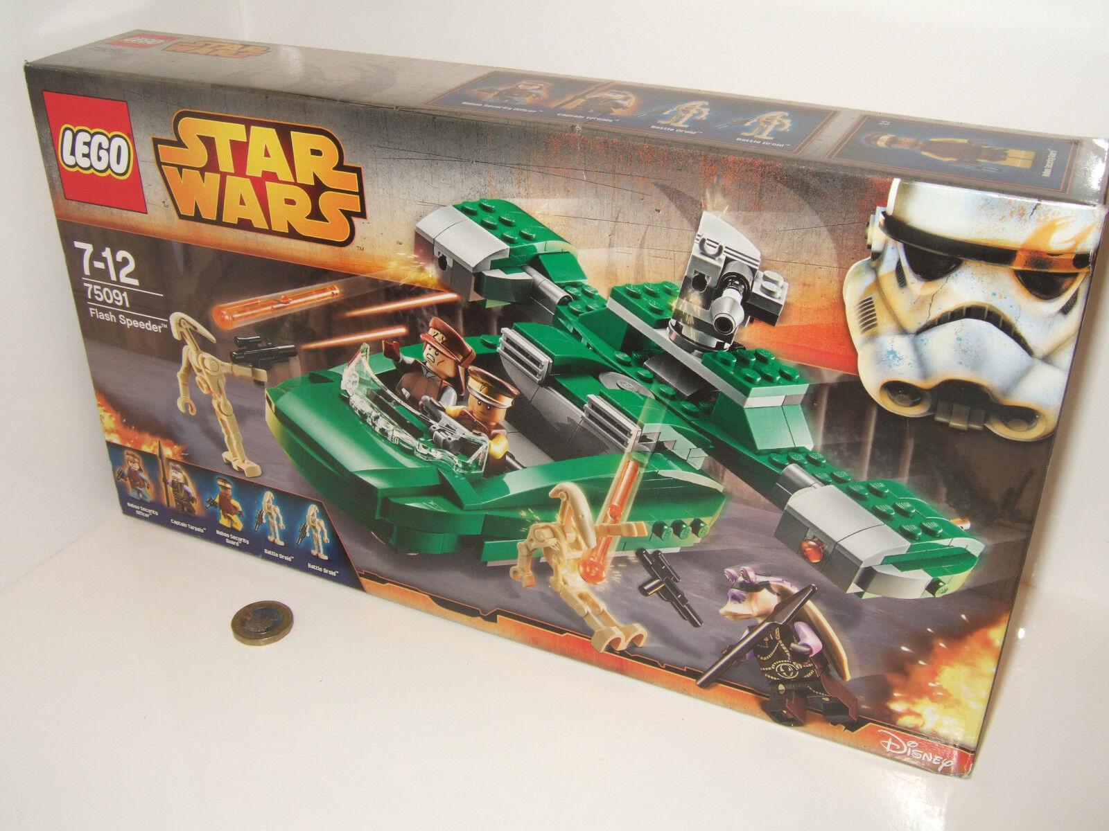 New Sealed Lego 75091 Flash Speeder Speeder Speeder with multi features and Figures 908a81