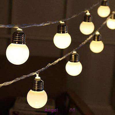 20 LED String Light Ball Shaped Fairy Bulb Party Wedding Decor Indoor/Outdoor