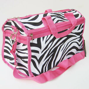 PINK-ZEBRA-WOMEN-TRAVEL-DUFFLE-GYM-BAG-Soft-Luggage-Soft-Carry-on-19-034