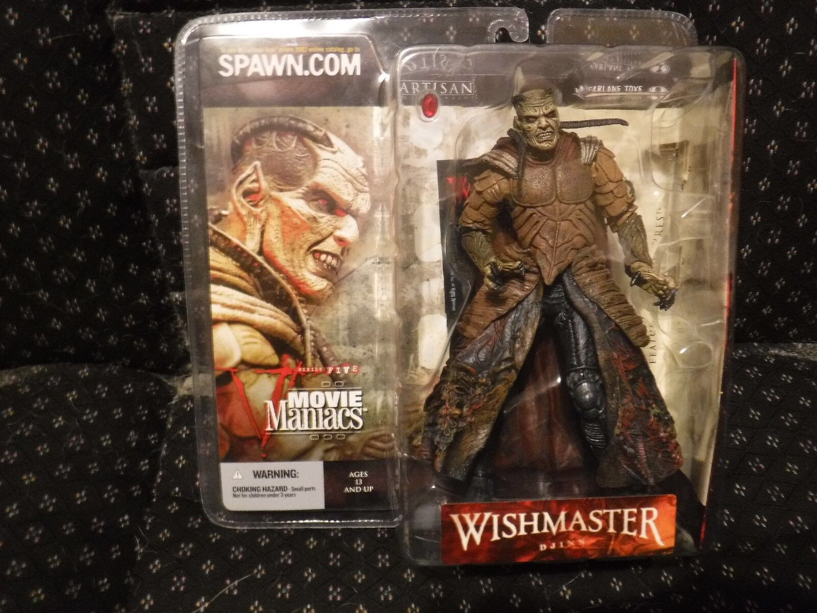 2002 Djinn Wishmaster McFarlane Toys Movie Maniacs Series 5  Action Figure New