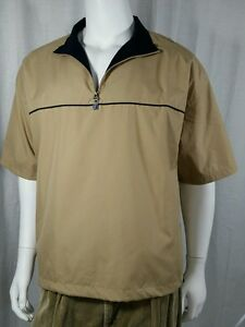Mens PGA Tour Short Sleeve Windbreaker Jacket Size L | eBay