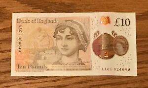 * Aa01 024649 * Nouveau Universel Polymère £ 10 Ten Pound Note-afficher Le Titre D'origine Et D'Avoir Une Longue Vie.