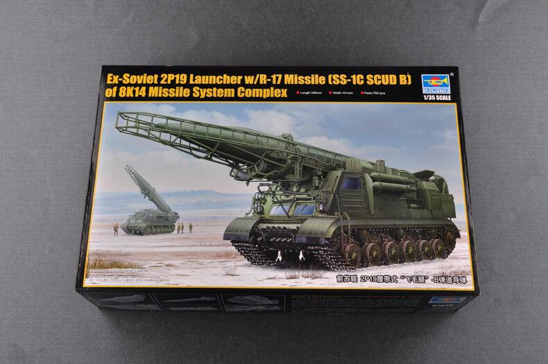 01024 Trumpeter seguimiento Hwasong 5 misiles balísticos Modelo 2P19 soviético escala 1/35