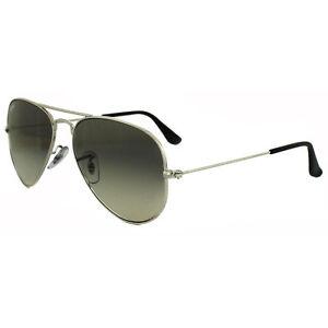 65aaaafc9b9d1 Ray-Ban Sunglasses Aviator 3025 003 32 Silver Grey Gradient Medium ...