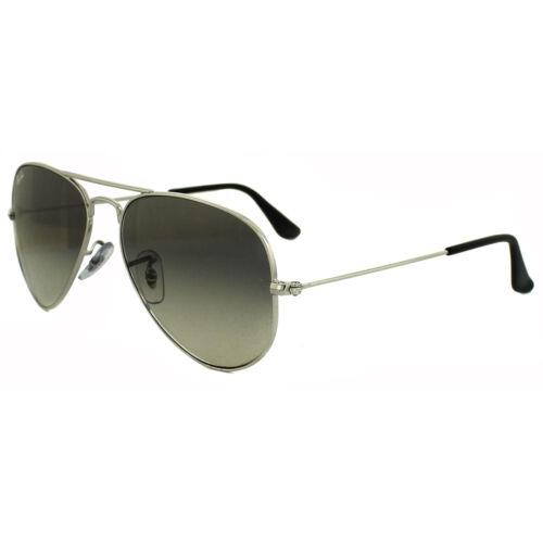 argento medio 58mm sole grigio ban sfumato Aviator da Occhiali Ray 3025 003 32 mnw8Ov0N