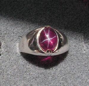 Mens Lindy Star Sapphire Ring