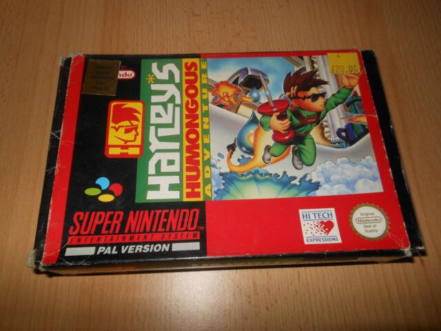 Nintendo SNES Game-Super Nintendo-PAL-Harley Humongous Adventure-Coffret