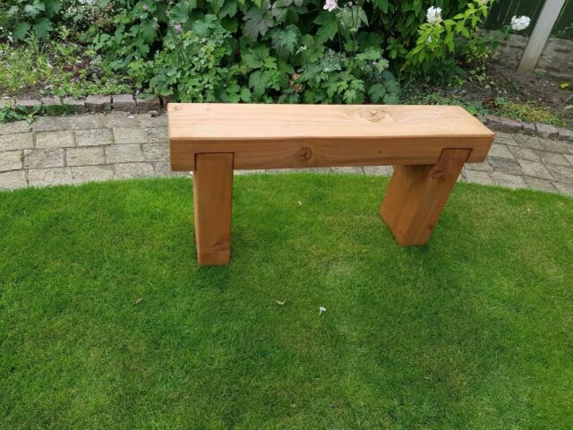 Super 3 Ft Garden Sleeper Bench Wooden Outdoor Patio Seat Pressure Treated Timber Camellatalisay Diy Chair Ideas Camellatalisaycom