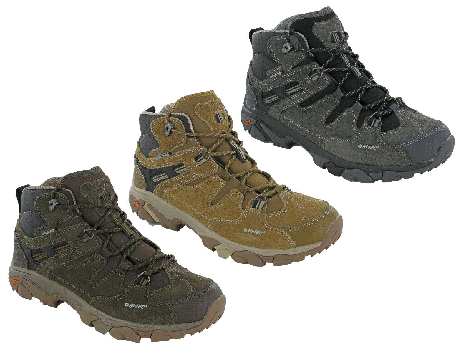Hi-Tec Ravus Adventure Mid Waterproof Walking Trainers Comfort Hiking  UK7-13  big discount prices