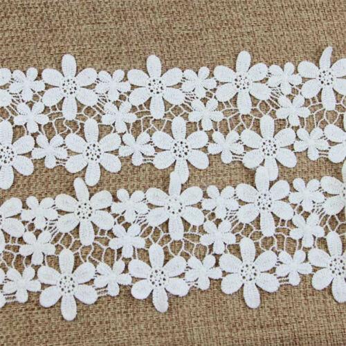 2 Yards Weiß Spitze Lace Borte Bänd Handarbeit Nähen Hochzeit Kleider Verzierung