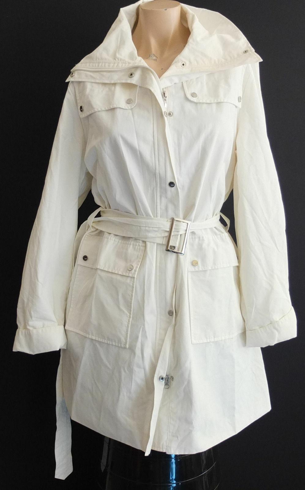 BIBA Coat Size 42 Hardly Worn White