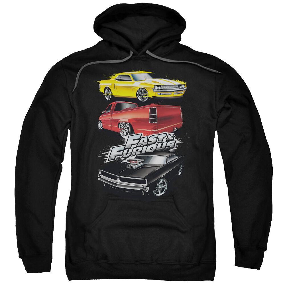 Fast & Furious Movie MUSCLE CAR SPLATTER Licensed Adult Sweatshirt Hoodie