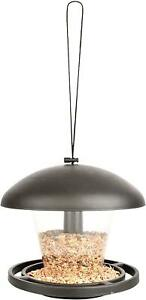 Esschert-Modele-Noir-Acrylique-Suspendu-Dome-Toit-Silo-Ecuelle-Jardin-Accessoire