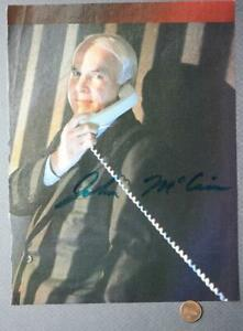 Presidential-Candidate-John-McCain-AUTOGRAPHED-SIGNED-1999-Magazine-Ad-Photo