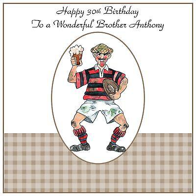 Mens Boys Handmade Personalised Birthday Card Football Footballer Ball Funny