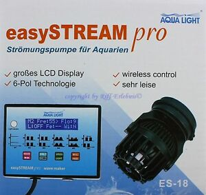 Tireless Easy Stream Pro Es-18 Wavemaker 4000l/h 10w Flow Pump Wireless Products Are Sold Without Limitations Pumps (water) Fish & Aquariums