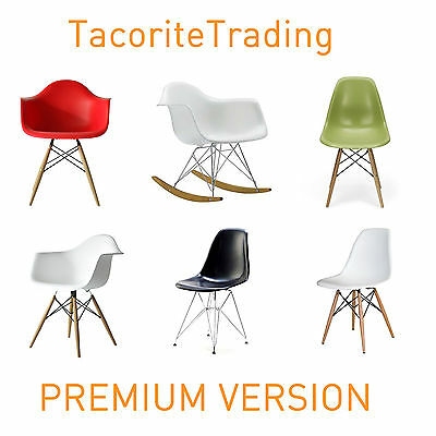 PREMIUM VERSION Charles Eames Eiffel Retro Dining Chair Chairs Modern Armchair