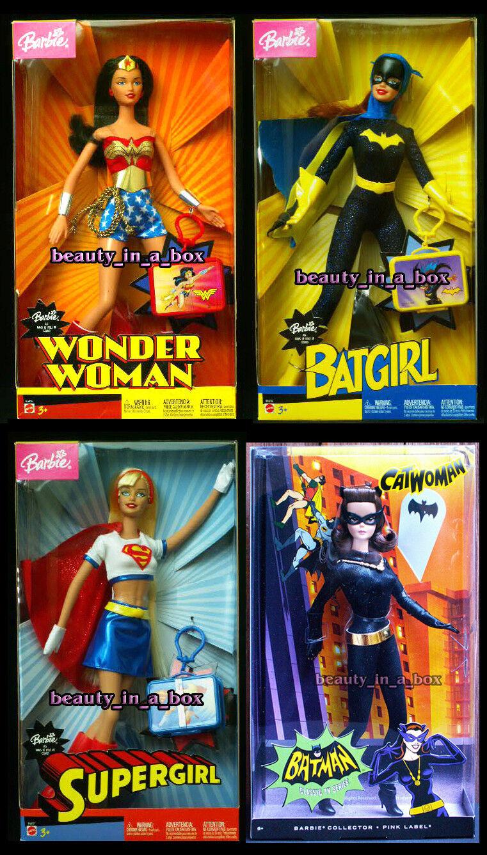 Mujer Maravilla De Muñeca Barbie Batgirl Supergirl 2003 Super Héroe Gatúbela Lote 3 Exc B