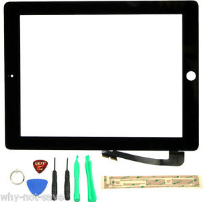 Tablet Lcds & Panels United Grade A New Touch Panel For Ipad 3 A1416 A1430 A1403 Digitizer Front Glass Panel Display Screen Black White