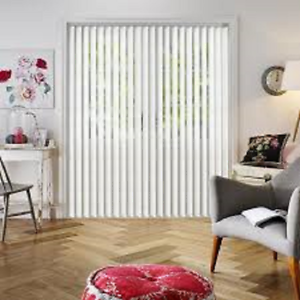 Headrail and Slats Fabric Lucca Blackout Vertical Blind