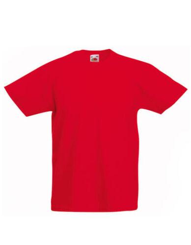Fruit of the Loom Kinder T-Shirt VALUEWEIGHT T KIDS Rundhals Kurzarm Neu F140K-1