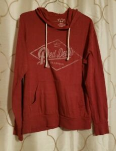 Red-Devils-S-Evanston-Wyoming-Long-Sleeve-Pullover-Hoodie-Sweater-Red-Pocket-Top