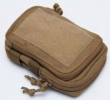 """MSM Stealth Compact Pouch + TWO 5"""" Malice Clips, MARINE COYOTE, USA Made"""