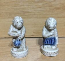 VTG WADE 1960s/1970s WHIMSIES MINIATURE CIRCUS MONKEY x 2