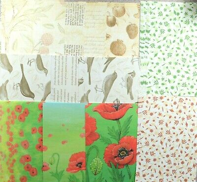 20 x A6 Nature Backing Papers In Different Variations 120gsm  NEW