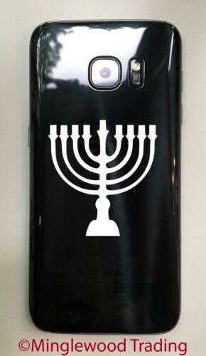 Judaism Hanukkah Hebrew Lamp Candles MENORAH Vinyl Decal Sticker