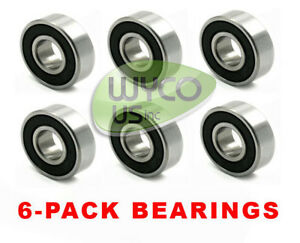 SIX-6-SPINDLE-DECK-BEARINGS-FOR-GREAT-DANE-REPL-D18045-BEARING-6305-26C11