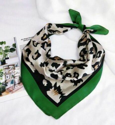 Neck Shawls Wraps 70x70cm Leopard Print Silk Women Scarf Squares Head Scarves