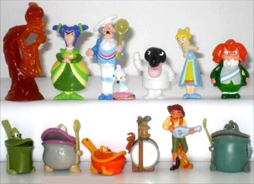 KINDER SURPRISE FERRERO BRIOSS COMPLETE SET TOTO PIZZA COLLECTABLES CAKE TOPPERS