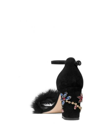 Details about  /NIB Stuart Weitzman Jewel Designer Sandals Black Suede 7.5 8 $498