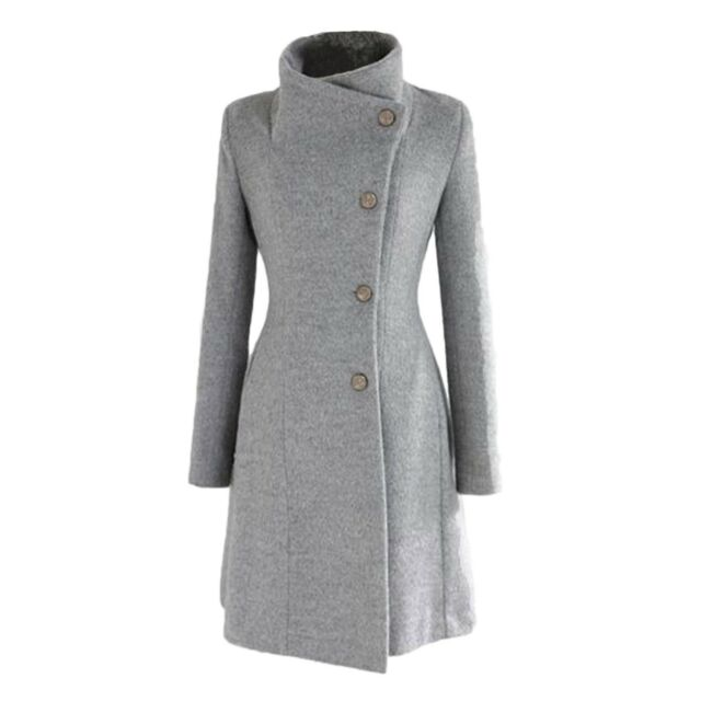 9bc1a7ff5fe Party Stand Collar Button Apparel Casual Trench Womens Coat Sz 12 ...