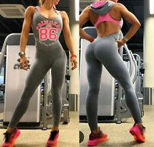 Women Sport YOGA Workout Gym Fitness Leggings Pants Jumpsuit Athletic Clothes L