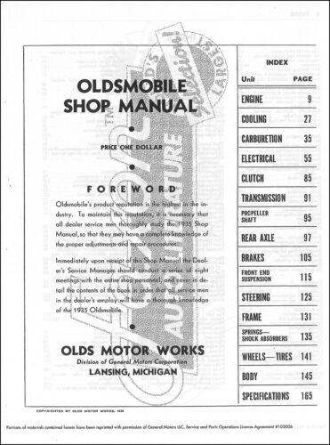 1935 Oldsmobile Shop Manual 35 Olds Repair Service Book F-35 L-35