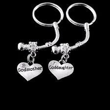 Goddaughter Godmother key chain  set Goddaughter godmother  jewelry godparents